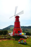 Red windmill Stock Photography