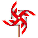 Red windmill toy. Vector illustration of red windmill toy, file included Eps v8 and 300 dpi JPG Royalty Free Stock Photos