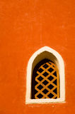 Red Window. A simple window in a red wall Royalty Free Stock Photography