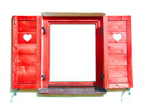 Red window. Stock Photos