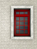 Red window Stock Photos