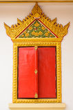 Red window. On asia temple royalty free stock photos