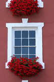 Red Window Beauty Stock Photo