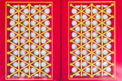Red window chinese style Stock Photography
