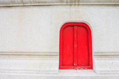 Red Window. Royalty Free Stock Photos