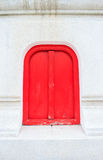 Red Window. Royalty Free Stock Photo