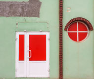 Red window and door Stock Photography