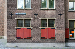 Red Window of Grote kerk (Big Church) in The Hague Royalty Free Stock Images