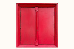 Red window isolated Royalty Free Stock Image