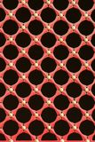 Red window lattice. Red and gold lattice pattern on a window in Beijing, Asia Royalty Free Stock Photography