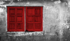 The Red window on Stock Photography