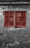 The Red window on Royalty Free Stock Image