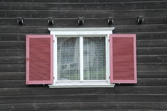 Red window shutter Royalty Free Stock Photos