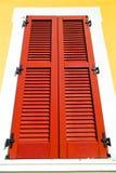Red window  varano borgh    abstract  sunny day Royalty Free Stock Image