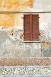 Red window  varano borghi palaces italy   pavement sidewalk Stock Images