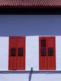 Red windows Royalty Free Stock Image