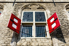 Red windows Royalty Free Stock Photography