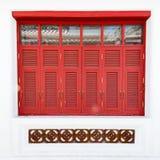 Red windows Stock Photos