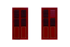 Red windows white background Royalty Free Stock Photos