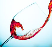 Red Wine. Falls in the glass Royalty Free Stock Photos