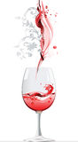 Red Wine. Raster version of vector illustration + EPS additional format Royalty Free Stock Image