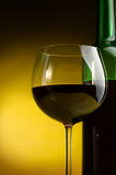 Red wine. Bottles of excellent wine on a dark background Royalty Free Stock Photography