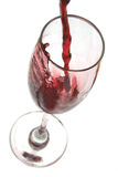 Red Wine. Pouring into glass Royalty Free Stock Photography