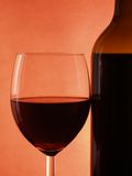 Red wine. Within glass close-up stock image