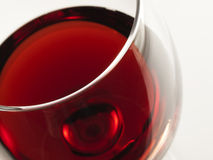 Red wine. Inviting glass of red from high angle shot royalty free stock image