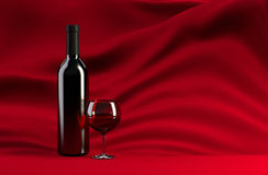 Red Wine. Still life with red wine vector illustration
