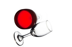 Red Wine. On a white background Royalty Free Stock Photography