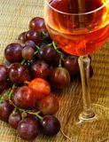 Red wine. Grapes and sunlight Stock Image