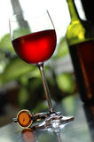 Red wine. Glass of red wine Stock Images
