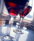 Red wine. Two glasses of red wine Stock Photography