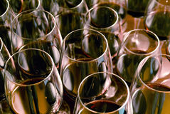 Red wine. In a glass wine glass Royalty Free Stock Image