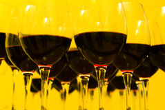 Red wine. In a glass wine glass Royalty Free Stock Photos