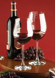 Red wine. Spanish red wine shot in studio stock photography