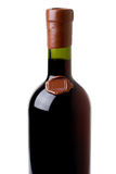 Red wine. Bottle on white background Royalty Free Stock Images