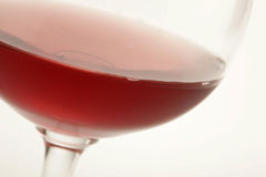 Red wine. Closeup of red wine in a glass Royalty Free Stock Photos