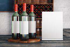 Red wine announcement Stock Image