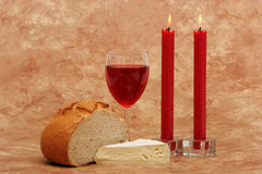 Red wine and appetizers Royalty Free Stock Photography