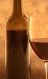 Red wine in back-light Royalty Free Stock Photography