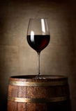 Red wine and barrel Royalty Free Stock Image
