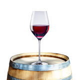 Red Wine on Barrel Stock Photos