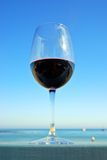 Red Wine at the Beach Royalty Free Stock Photo