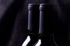 Red wine on black Royalty Free Stock Photo
