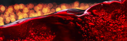 Red wine on black background Royalty Free Stock Photo