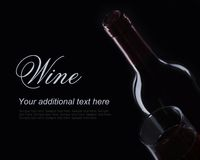 Red wine on black background in decorative lighting stock photos