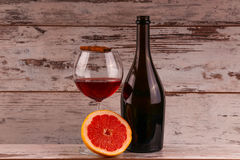 Red wine on a black background Stock Photos