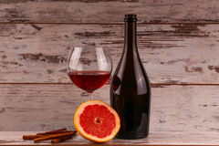 Red wine on a black background Stock Images